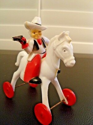 Rosbro Rosen Valentine Cowboy On White Horse. Chance For A Good Deal. Glue Issue