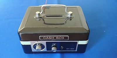 Vintage Metal Cash Box - Safe - Combination & Key Lock - Keys Included - Nos