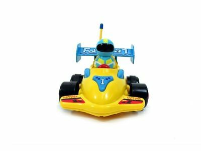 Remote Control Formula Race Car Cartoon Toy for Toddlers -Yellow Kids 3+ yrs