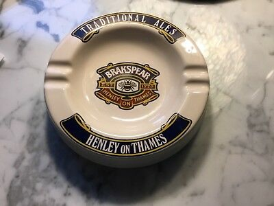 Authentic Vintage Brakspear Ashtray Beer Henley On Thames Breweriana Ceramic