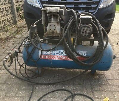 Air Compressor Ingersoll Rand single phase 240 Volt 100 Litres Fully Working