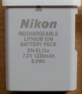 EN-EL14a  Nikon camera Battery.. genuine original unused from new camera kits.