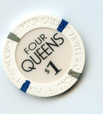 1.00 Chip from the Four Queens Casino in Las Vegas Nevada Plain