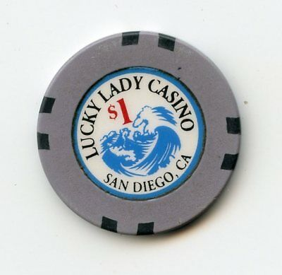 1.00 Chip from the Lady Luck Casino in San Diego California