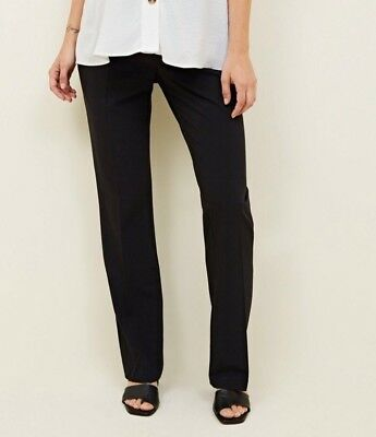 New Look - Maternity Black Over Bump Trousers - Size 8 30L - BNWT