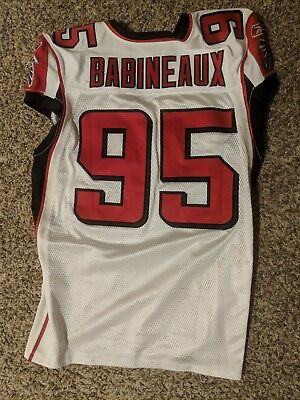 Hot JONATHAN BABINEAUX ATLANTA Falcons Game Worn Jersey NFL Size 46  for cheap