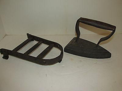 Antique Flat Iron With Trivet, Trivet is 18th or early 19th Century