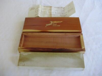 Vintage Hard Arkansas Oil Stone in Cedar Box