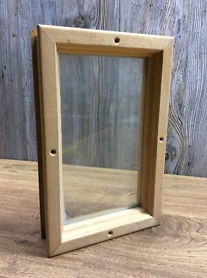 Rectangle Window For Entry Door Install Wood Frame or Any Tiny Window Project F9