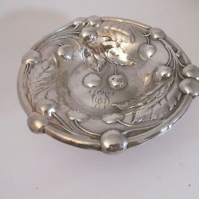 Antique Arts & Crafts Sterling Silver Footed Cherry Bowl. 4 Troy Oz.Unicorn NR