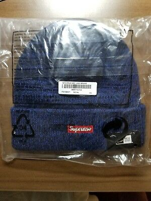 4b13873abf SUPREME NEW ERA Arc Logo Beanie NAVY ROYAL OS BRAND NEW AUTHENTIC ...
