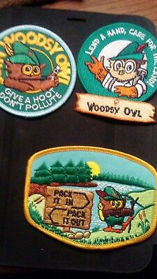 Woodsy Owl, selling 1 ,2or all 3. 1-LEND A HAND 2- JOIN WOODSY OWL 3-PACK IT OUT