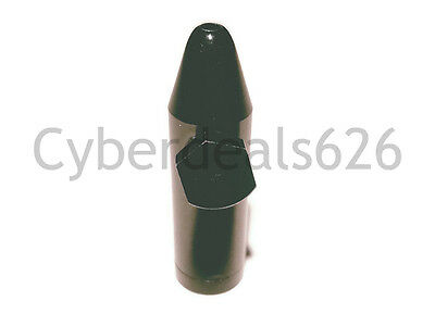 (Black) New Metal Aluminum Snuff Snorter Bullet Box Dispenser Rocket
