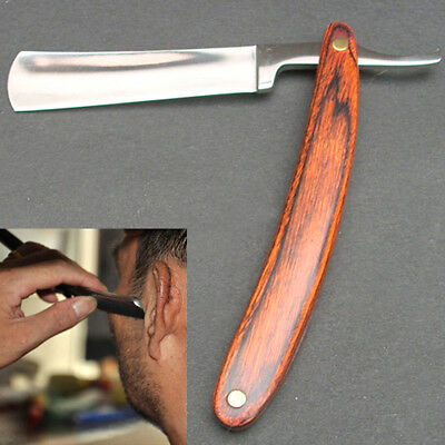 Steel Straight Edge  Barber Blades Manual Shave Razaor Folding Shaving Knife