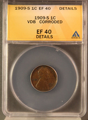 1909-S VDB Lincoln Cent Wheat Penny, Choice XF Key Date ** Free Shipping!