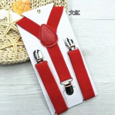 Lovely Baby Boys Girls Clip-on Suspender Y-Back Child Elastic Suspenders Fgy