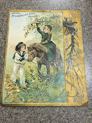 Vintage 1890's McLaughlin's Coffee Trade Card ADVERTISING PICTURE CARD Our Pony