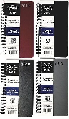 2019 Weekly/Monthly Pocket Planner Spiral Bound 6-1/8 in x 3-1/4 in colors vary
