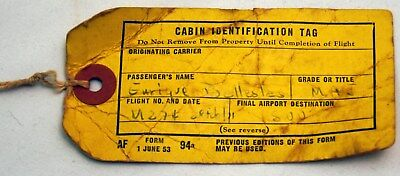 Vintage Air France airline cabin identificaton tag 1953