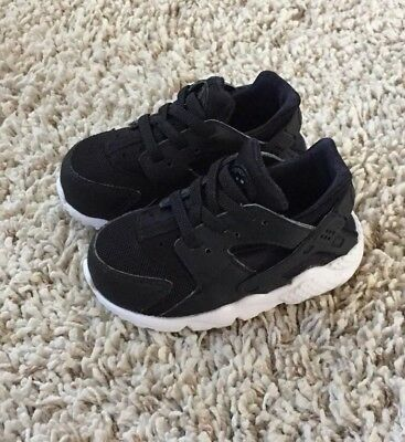 e9955cb3e866 NIKE HUARACHE RUN Baby Toddler Boys Black Shoes. Size 6c -  18.50 ...