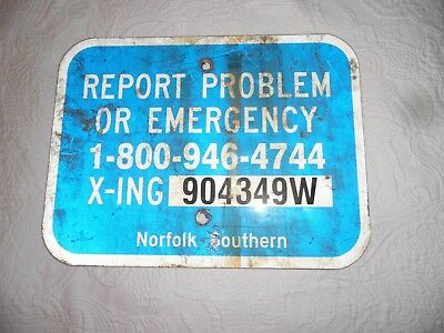 Authentic Report Problem / Emergency Norfolk Southern Railway Xing Sign