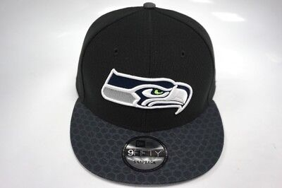 size 40 aaacb 906e5 Seattle Seahawks New Era 9Fifty Snapback Hat Sideline Collection