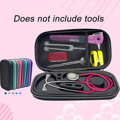 Portable Stethoscope Hard EVA Carrying Case Box Accessories Pouch Storage Bag UK