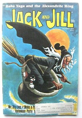 Vtg Halloween October 1973 Jack and Jill Magazine Complete! Witch Baba Yaga
