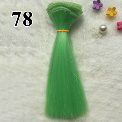 1* 100x15cm Synthetic Extension Green Hair Wig for Doll Hairdressing Styling