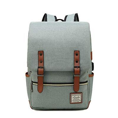 LENOHO Laptop Backpack Women Men, Vintage Slim College School Backpack USB Charg