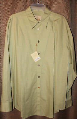 3c3f2d80 Men's Stubbs Pasture Green Long Sleeve Western Shirt NWT With Buttons Size L