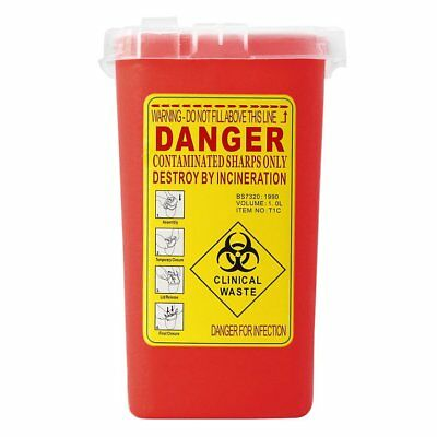 Plastic Sharps Container Biohazard Needle Disposal Box for Infectious Waste UQ