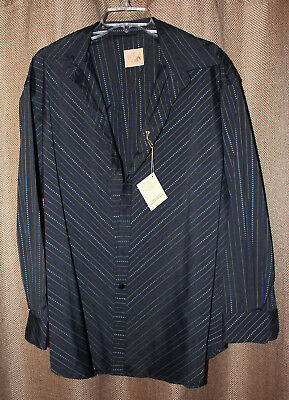 cdb2fc19 Stubbs Western Wear Long Sleeve Shirt NWT Royal Embroidery No Buttons Size  XL
