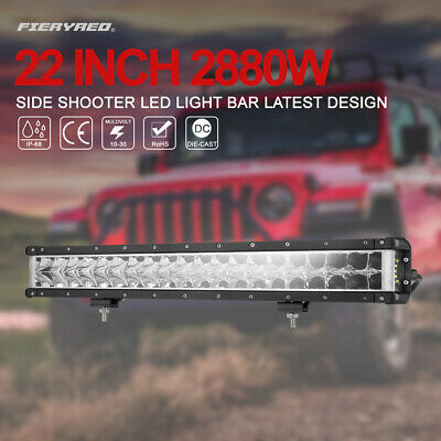23 Inch LED Work Light Bar Combo Beam 5D Led Off-Road Driving Lights w/ Wiring