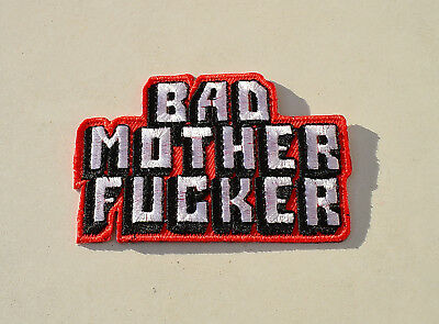 Bad Motherfucker,Patch,Aufnäher,Aufbügler,Badge,Iron On,Badge,Kutte,Biker