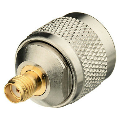 Brass SMA Female Jack to N-Type Plug Male Straight RF Coaxial Adapter Connector