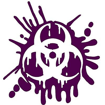 Biohazard Decal Vinyl Melted Sticker