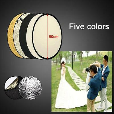 """Photo Photography 80cm 32"""" 5 in 1 Collapsible Multi Light Reflector Studio"""