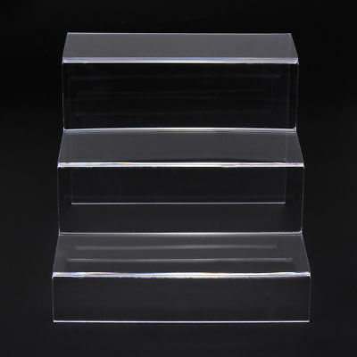 Clear 3-tier Steps Display Riser Stand Jewelry Showcase Make Up Tool Rack