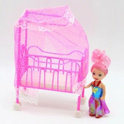Sweet Baby Crib For Barbie Girls Doll Furniture Kelly Baby Bed Doll Accesso