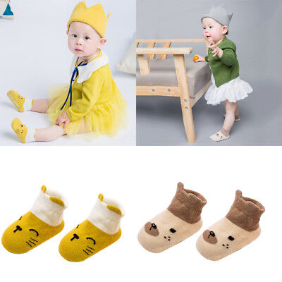 1 Pairs Baby Boy Girl Cartoon Cotton Ankles Socks Newborn Infant Toddler Soft W