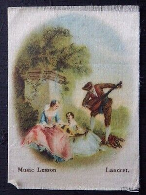 MUSIC LESSONS by LANCRET Superior Quality Silk issued in 1912
