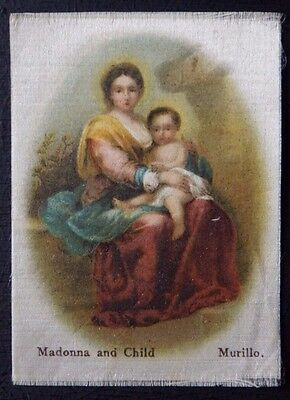 MADONNA AND CHILD by MURILLO Superior Quality Silk issued in 1912