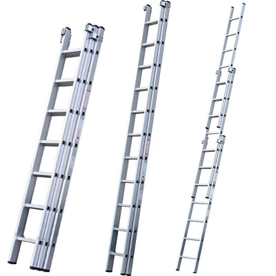 DIY 100 Domestic Triple & Double Section Aluminium Extension Ladders Youngman