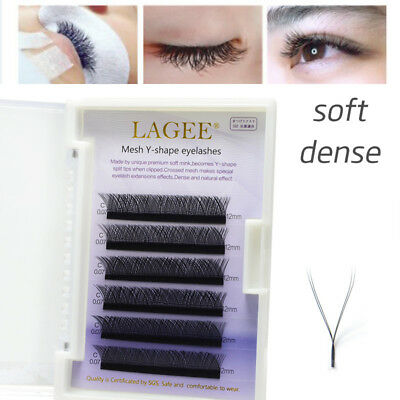 Faux Mink Y-shape Volume Individual Eyelashes Extensions Soft Weave Eye Lashes