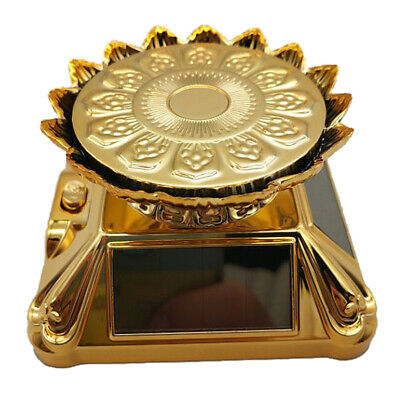 Solar Powered Rotating Display Stand Plate f/ Retail Shop Supermarket Golden