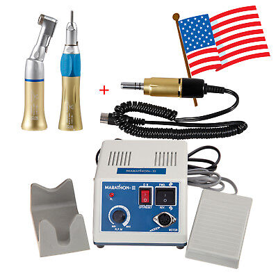 USA Dental Marathon Micromotor 35000 rpm with Contra Angle Straight Handpiece XH