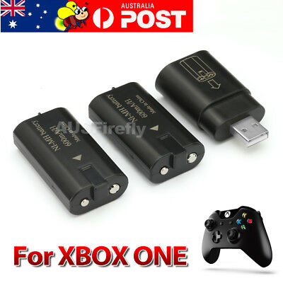 2 Pack For XBox One Charge and Play Kit Rechargeable Battery & Charging Cable AU