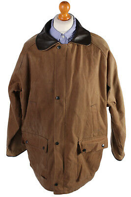 Vintage Bywater Clothing Blanket Inner Waxed Coat - Chest: 55 Brown - C515