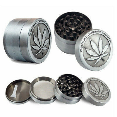 Leaf 3 4 Layers Zinc Alloy Tobacco Crusher Hand Muller Smoke Herb Grinder Funny